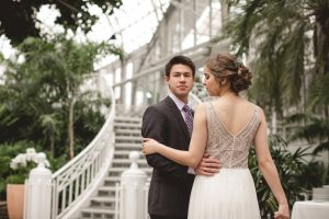 Columbus, Ohio, Palm House, Conservatory, Arboretum, Dayton, Ohio, Kettering, Winter Wedding,